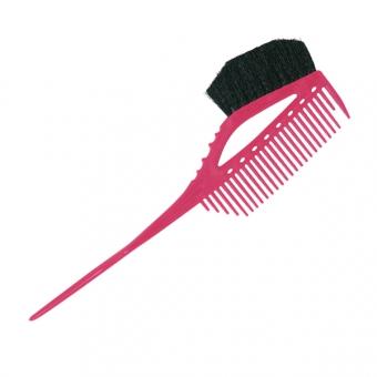 Щетка-расческа  для окрашивания 640 Y.S.PARK Professional Tint Comb&Brush Pink
